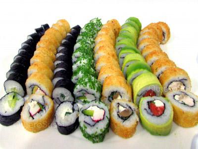 70 piezas de sushi en Sushi Bubba Gump, Ñuñoa