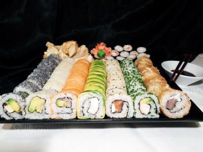 72 piezas de sushi en Sushi Inside, Ñuñoa