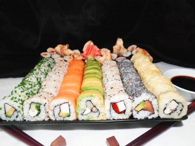 104 piezas de sushi en Sushi Inside, Ñuñoa