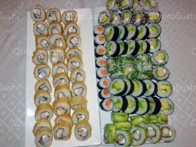 85 piezas de sushi en El Trujillano Sushi, Santiago Centro