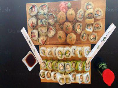 55 piezas de sushi en Now Sushi, La Florida