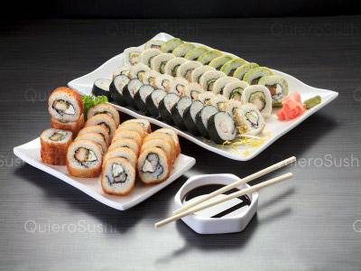 60 piezas de sushi en Yamato Sushi, Providencia