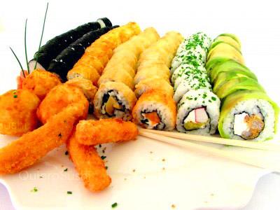 76 piezas de sushi en Sushi Bubba Gump!!!, Ñuñoa