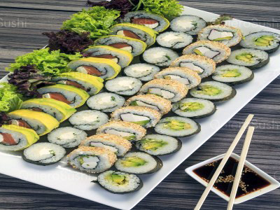 60 piezas de sushi en Rock The Food, Ñuñoa