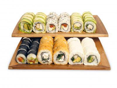 66 piezas de sushi en Sushi Ha, Maipu