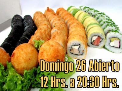 73 piezas de sushi en Sushi Bubba Gump!!!, Ñuñoa