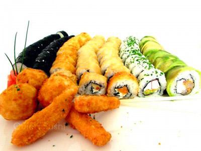 83 piezas de sushi en Sushi Big Bang! Ex Bubba Gump, Ñuñoa