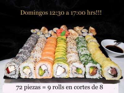 72 piezas de sushi en Sushi Inside, Providencia