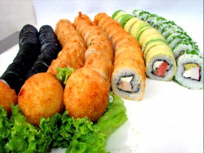 73 piezas de sushi en Sushi Big Bang! Ex Bubba Gump, Ñuñoa