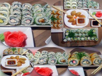 70 piezas de sushi en Sushi Kyasarin, Maipu
