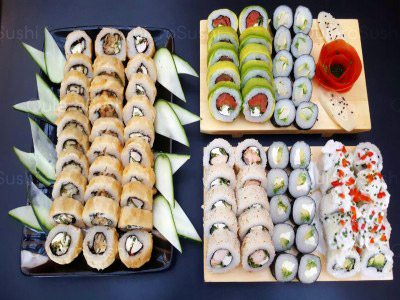 80 piezas de sushi en Maldito Sushi THAI, Las Condes