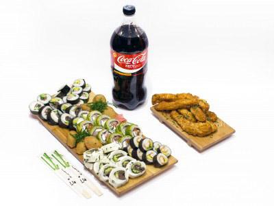 62 piezas de sushi en Hi No Hana Sushi, La Florida