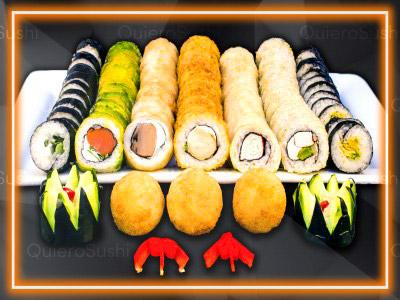 80 piezas de sushi en Sushi Big Bang! Ex Bubba, Ñuñoa