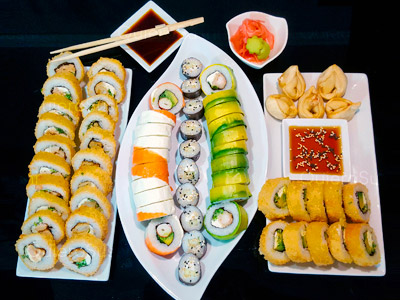 65 piezas de sushi en Giro Sushi, Santiago Centro