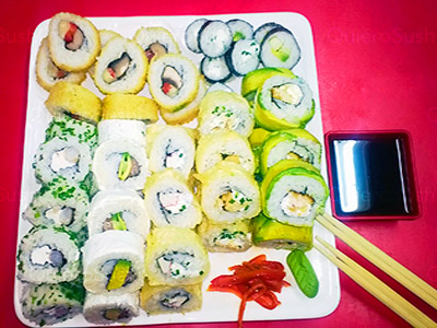 80 piezas de sushi en INSIDE ABIERTO, Ñuñoa