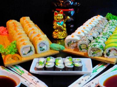70 piezas de sushi en Okiis Sushi, Peñalolen
