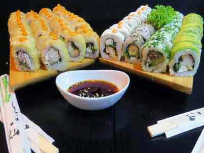 40 piezas de sushi en Okiis Sushi, Peñalolen