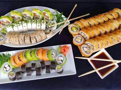 80 piezas de sushi en Giro Sushi, Santiago Centro