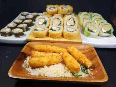 45 piezas de sushi en sushi el gato, Las Condes