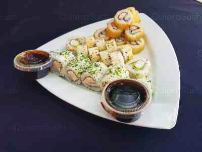 30 piezas de sushi en Zushi Nikkei sushi, La Reina