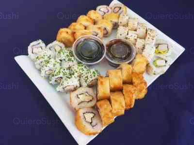40 piezas de sushi en Zushi Nikkei sushi, La Reina