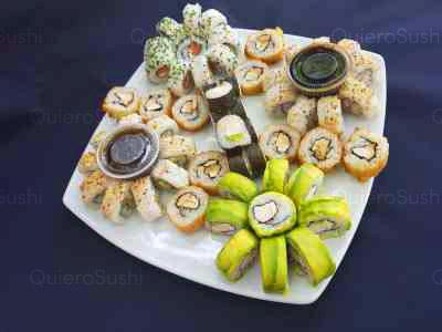 60 piezas de sushi en Zushi Nikkei sushi, La Reina