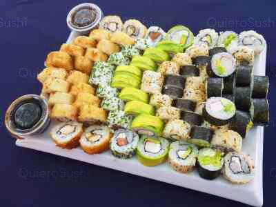 80 piezas de sushi en Zushi Nikkei sushi, La Reina