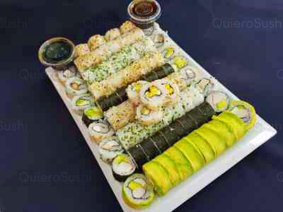 90 piezas de sushi en Zushi Nikkei sushi, La Reina