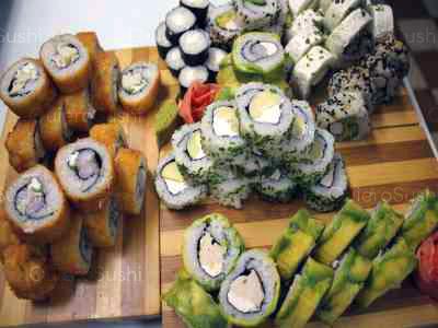 70 piezas de sushi en Mary´s Sushi Rolls Nuñoa, Ñuñoa