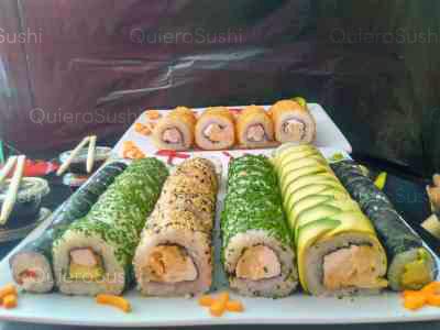 100 piezas de sushi en Taimu Sushi, Maipu