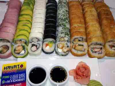 85 piezas de sushi en Hayato Sushi, Santiago Centro