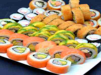 60 piezas de sushi en Mary's Sushi la florida, La Florida