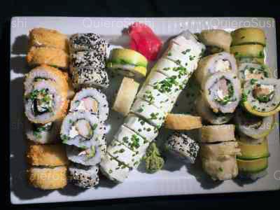 50 piezas de sushi en Sushi Fu Kang, Santiago Centro