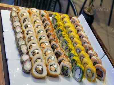 70 piezas de sushi en Nori Sushi, Providencia