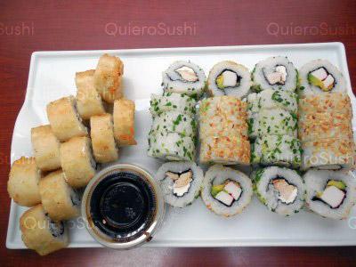 30 piezas de sushi en Onomichi Nikkei, Ñuñoa