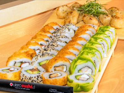 50 piezas de sushi en Sushi Ya, Ñuñoa