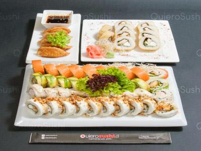 55 piezas de sushi en Yamato Sushi, Providencia