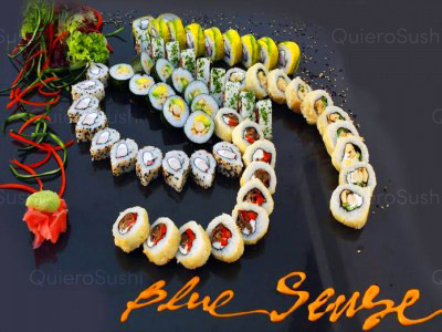 ¡60 increí­bles piezas de sushi ideal para compartir!