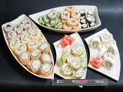 80 piezas de sushi en Mitsuko Sushi, La Reina