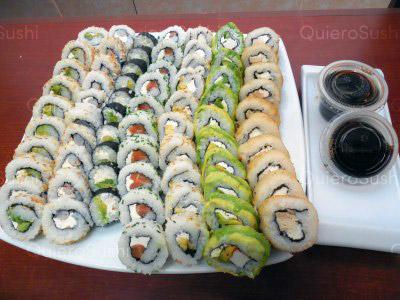 70 piezas de sushi en Onomichi Nikkei, Ñuñoa