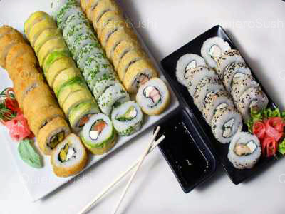 55 piezas de sushi en Sushi Rolls Liam, Ñuñoa
