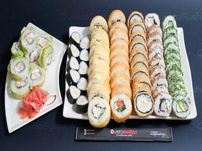 70 piezas de sushi en Mitsuko Sushi, La Reina