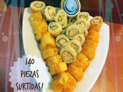 40 piezas de sushi en Onomichi Nikkei, Santiago Centro