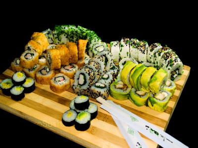 80 piezas de sushi en Hi! Sushi, Santiago Centro