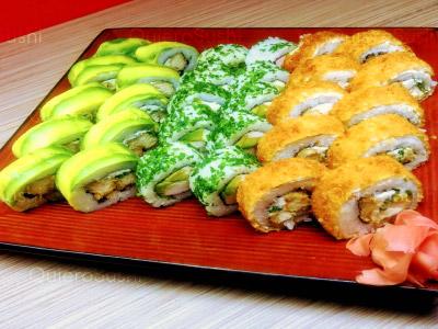 30 piezas de sushi en Sayonara Sushi, Recoleta