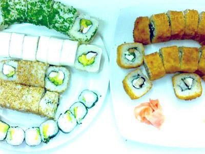 80 piezas de sushi en Ahí Sushi La Florida, La Florida