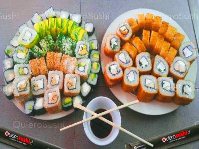 100 piezas de sushi en Ahi Sushi Maipú El Abrazo, Maipu