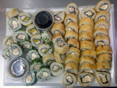 50 piezas de sushi en Onomichi Nikkei, Santiago Centro