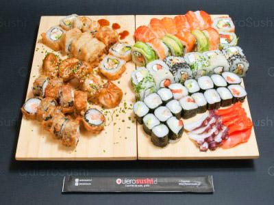 75 piezas de sushi en Sempai Sushi, Peñalolen