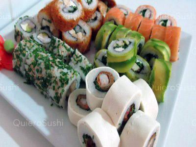 60 piezas de sushi en Genki Sushi, Puente Alto